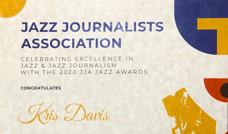 Kris Davis wins the 2020 JJA award for Composer & Pianist of the Year